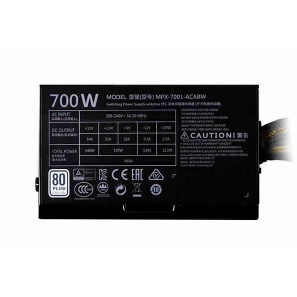 Cooler Master Mwe 700 White 230v – V2 H2