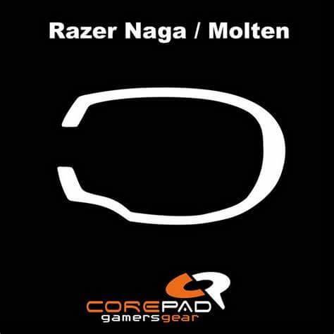 Corepad Skatez Pro For Razer Naga Series -100% PTFE Mouse Feet