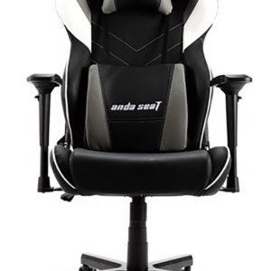 Anda Seat Assassin Black/White/Grey V2 - Full PVC Leather 4D Armrest Gaming Chair