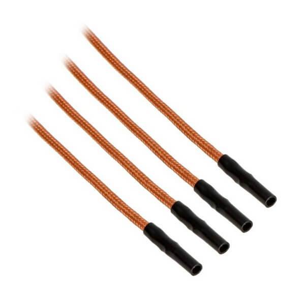 CableMod ModFlex™ Sleeved Wires Orange 4x20cm
