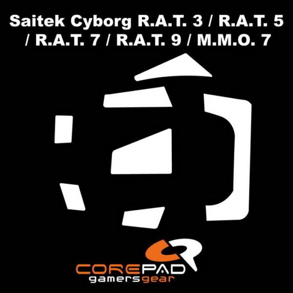 Corepad Skatez Pro For Saitek Cyborg R.A.T 3, 5, 7 & 9 / MMO7 -100% PTFE Mouse Feet