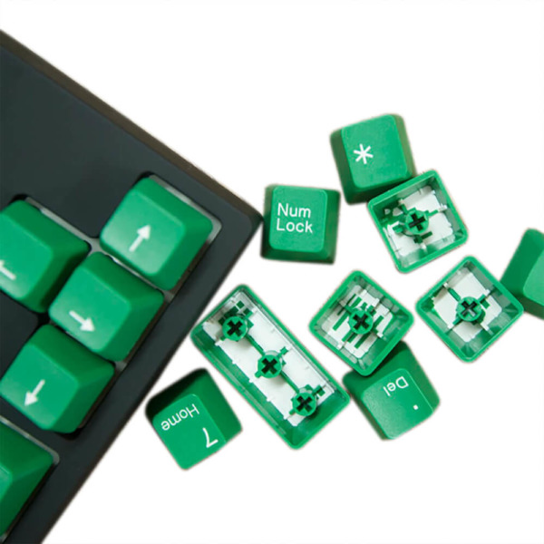 Tai-Hao Double Shot ABS Green/White Text - Full 104 Keys
