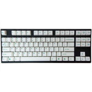 Tai-Hao Double Shot ABS White/Green Text - Full 104 Keys