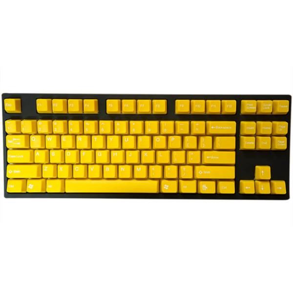 Tai-Hao Double Shot ABS Yellow/White Text - Full 104 Keys