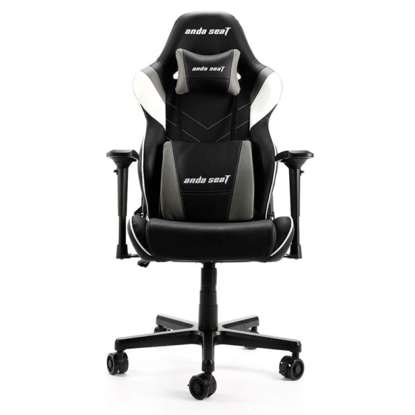 Anda Seat Assassin King V2 Blackwhitegrey – Full Pvc Leather 5d Armrest Gaming Chair H1