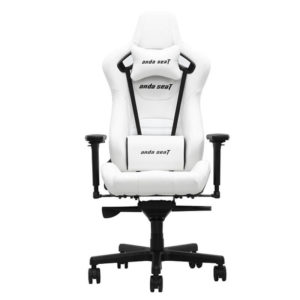 Anda Seat Infinity King Pure White – Full Pvc Leather 4d Armrest Gaming Chair H1