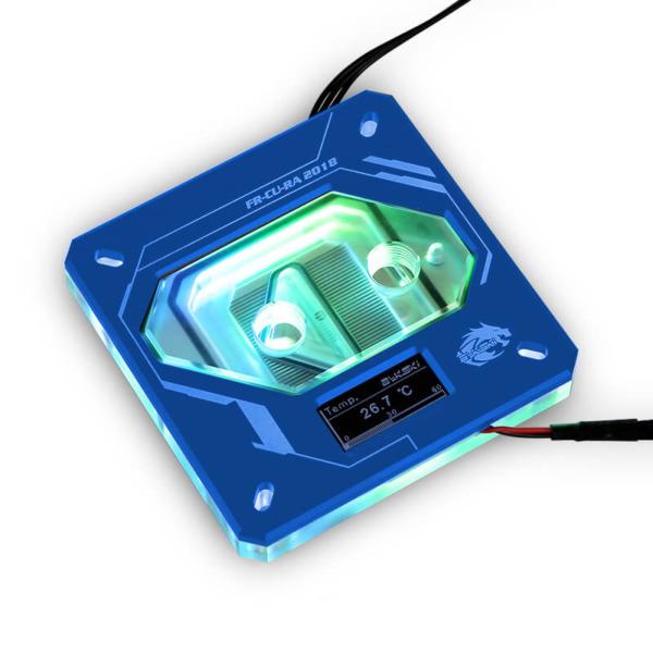 Bykski FR-CU-RA-2018 Blue - Digital RGB Temperature LCD Cpu Blocks