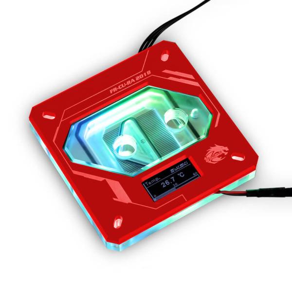 Bykski FR-CU-RA-2018 Red - Digital RGB Temperature LCD Cpu Blocks