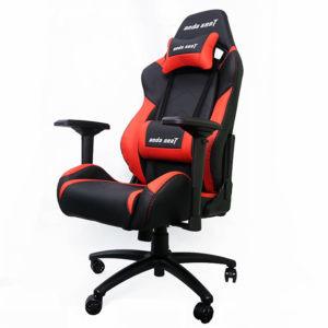 Anda Seat Dark Black/Red - Full PVC Leather 4D Armrest Kingsize Gaming Chair