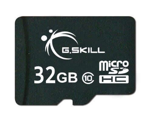 G.Skill Micro SDHC Class 10 32GB Flash Card With SD Adapter