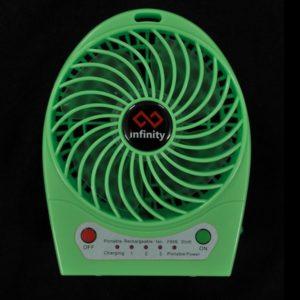 Infinity Tornado Green - Quạt Mini Kiêm Pin Dự Phòng