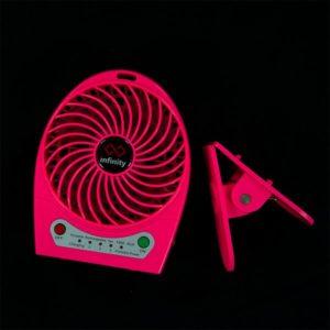 Infinity Tornado Pink - Quạt Mini Kiêm Pin Dự Phòng