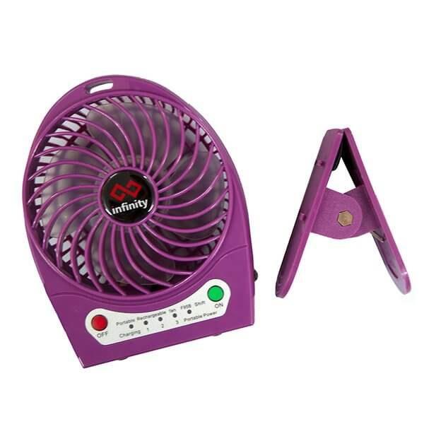 Infinity Tornado Purple - Quạt Mini Kiêm Pin Dự Phòng