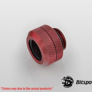 Bitspower G1,4'' Deep Blood Red Enhance Multi Link For Od 12mm