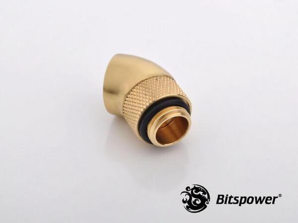Bitspower G1,4'' Golden Rotary 45 Degree Ig1,4'' Extender