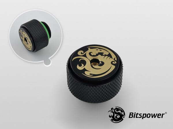 Bitspower G1,4'' Matt Black Air Exhaust Fitting