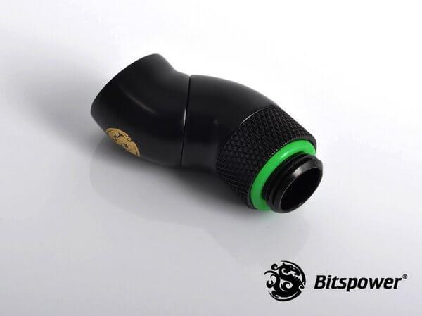 Bitspower G1,4'' Matt Black Dual Rotary 90 Degree Ig1,4'' Extender 2