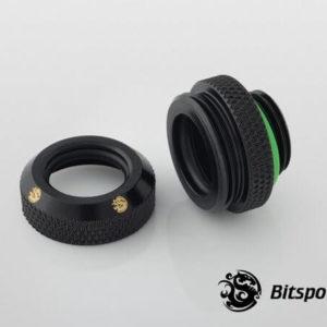 Bitspower G1,4'' Matt Black Enhance Multi Link For Od 16mm 2