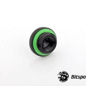 Bitspower G1,4'' Matt Black Low Profile Stop Fitting V2 2