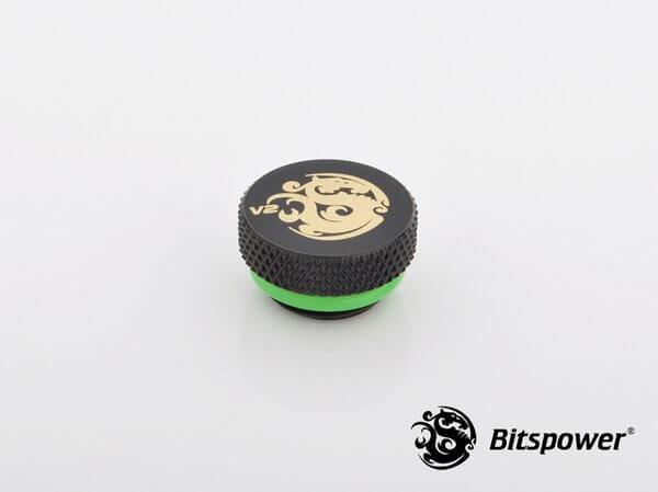 Bitspower G1,4'' Matt Black Stop Fitting V2