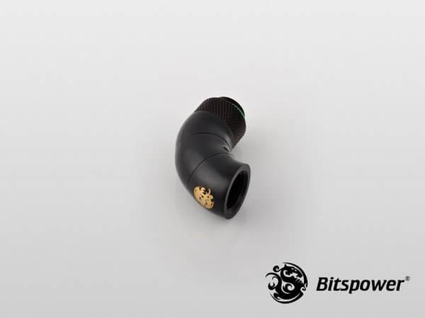 Bitspower G1,4'' Matt Black Triple Rotary 90 Degree Ig1,4'' Extender 2