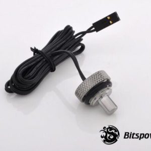 Bitspower G1,4'' Silver Shining Temperature Sensor Stop Fitting