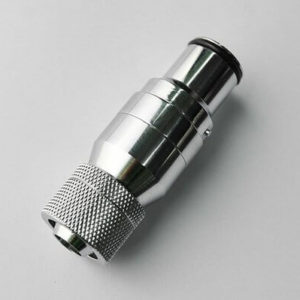 Bitspower Silver Shiningquick Disconnected Male With Rotary Compression Fitting Cc3 For Id 3,8'' Od