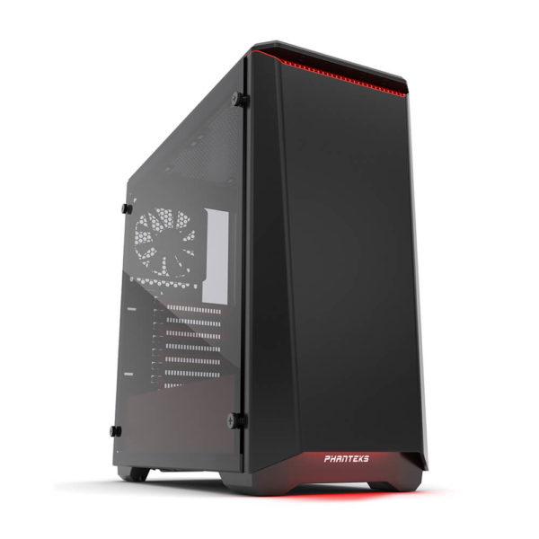 Phanteks Eclipse P400 Black:red Tempered Glass H1