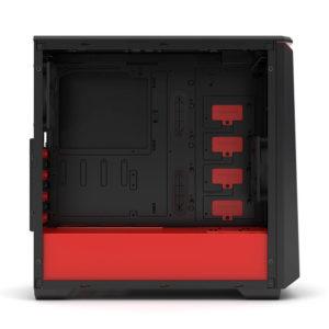Phanteks Eclipse P400 Black:red Tempered Glass H4