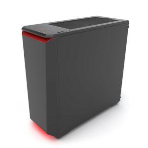 Phanteks Eclipse P400 Black:red Tempered Glass H6