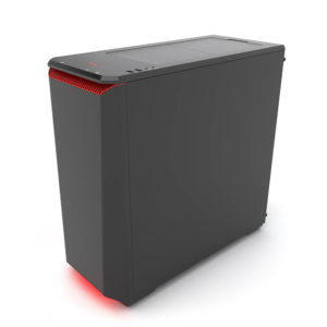 Phanteks Eclipse P400s Silent Edition Black:red Tempered Glass H3