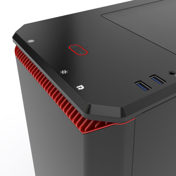 Phanteks Eclipse P400s Silent Edition Black:red Tempered Glass H4
