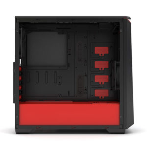Phanteks Eclipse P400s Silent Edition Black:red Tempered Glass H5