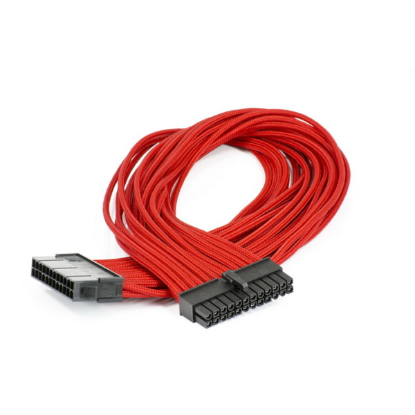 Phanteks Motherboard 24-Pin Extension 500mm - Red Sleeved Cable