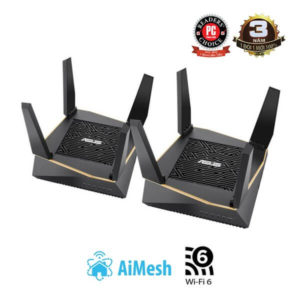 ASUS RT-AX92U (AiMesh Router) AX6100 MU-MIMO WTFast AiMesh 360 WIFI, 3 Băng Tần, Chipset Broadcom, AiProtection, USB 3.0