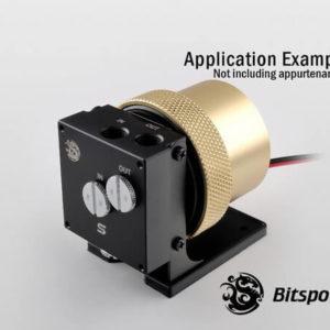 Bitspower D5 MOD Package (Black POM TOP S + MOD Kit V2 Golden)
