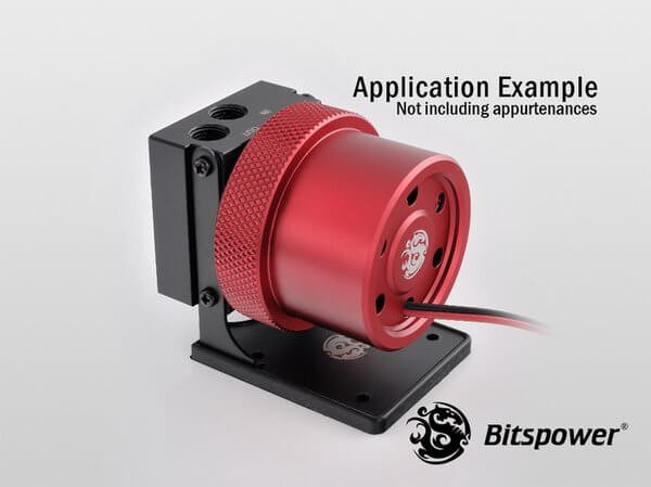 Bitspower D5 MOD Package (Black POM TOP S + MOD Kit V2 Matt Red)