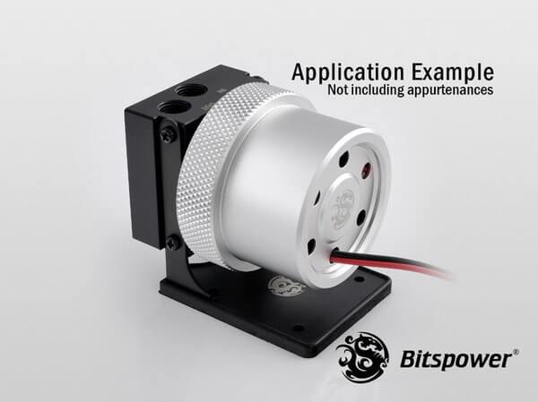 Bitspower D5 MOD Package (Black POM TOP S + MOD Kit V2 Silver)