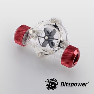 Bitspower Flow Indicator Deep Blood Red