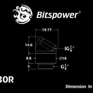 Bitspower G1/4'' Deep Blood Red Rotary 30-Degree IG1/4'' Extender