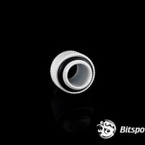 Bitspower G1/4'' Deluxe White Dual G1/4'' Fitting