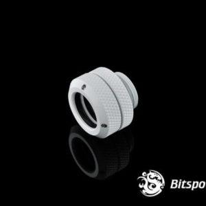 Bitspower G1/4'' Deluxe White Enhance Multi-Link For OD 14MM