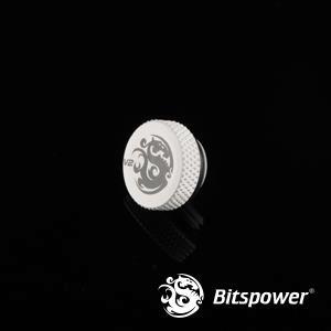 Bitspower G1/4'' Deluxe White Stop Fitting V2
