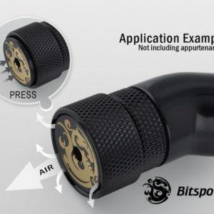 Bitspower G1/4'' Matt Black AIR-Exhaust Fitting