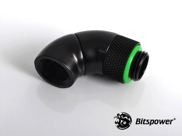 Bitspower G1/4'' Matt Black Dual Rotary 90-Degree IG1/4'' Extender