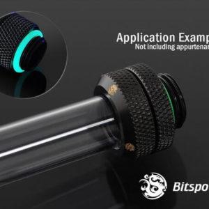 Bitspower G1/4'' Matt Black Enhance Multi-Link For OD 16MM