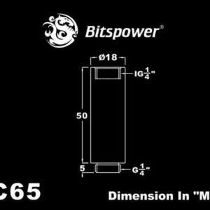 Bitspower G1/4'' Matt Black IG1/4'' Extender-50MM