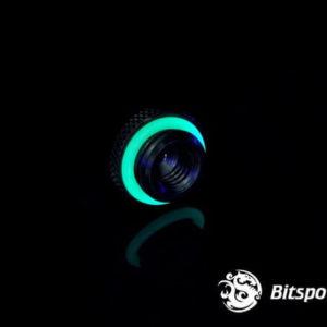 Bitspower G1/4'' Matt Black Low-Profile Stop Fitting V2
