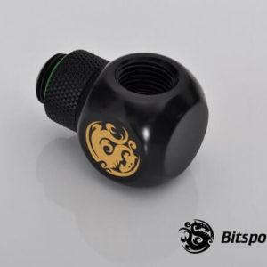 Bitspower G1/4'' Matt Black Q Plus-Rotary IG1/4''X2 Extender