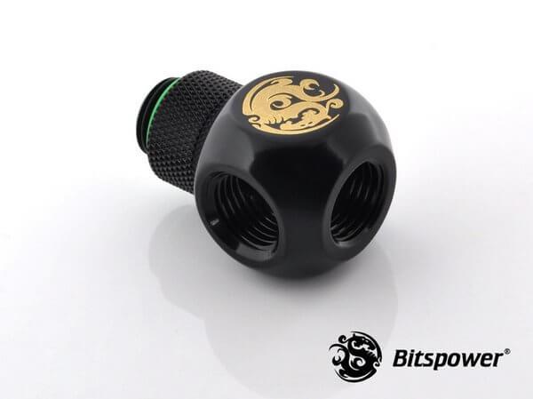 Bitspower G1/4'' Matt Black Q Plus-Rotary IG1/4''X3 Extender